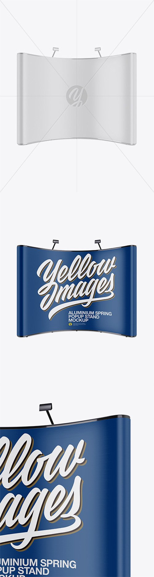 Matte Aluminium Spring Pop-Up Stand Mockup - Front View 21002 TIF