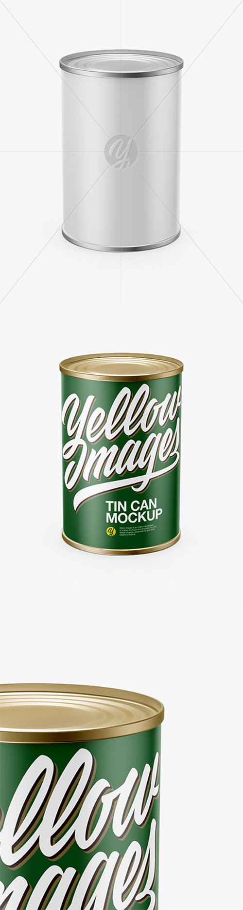 Tin Can With Paper Label Mockup (High-Angle Shot) 21065 TIF