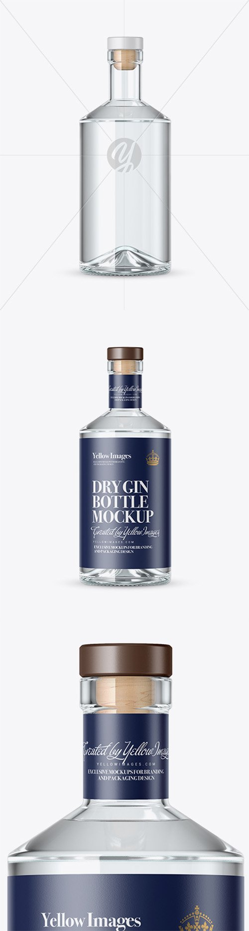 Clear Glass Gin Bottle Mockup 20503 TIF