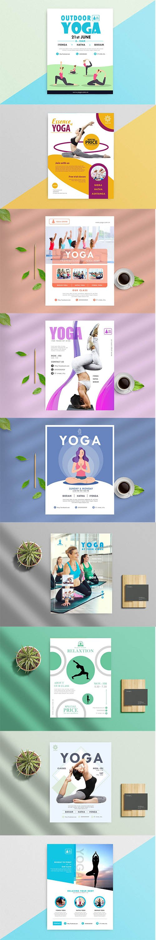 9 Yoga Flyers