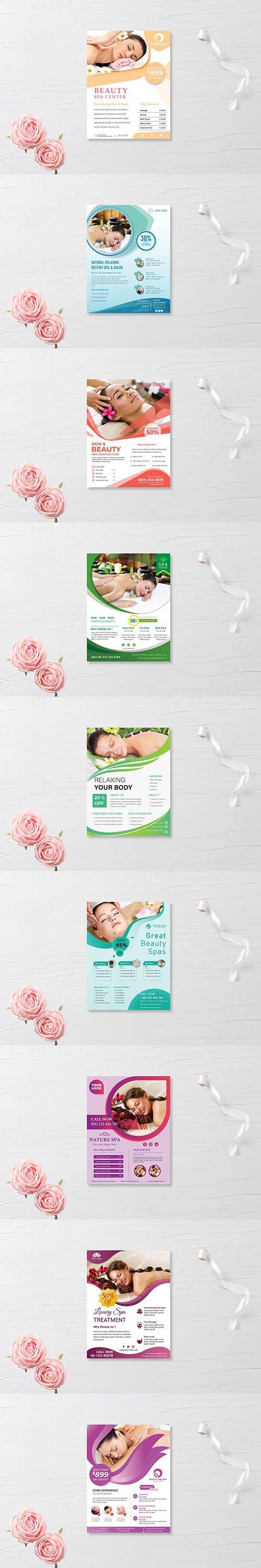 9 Spa flyer templates