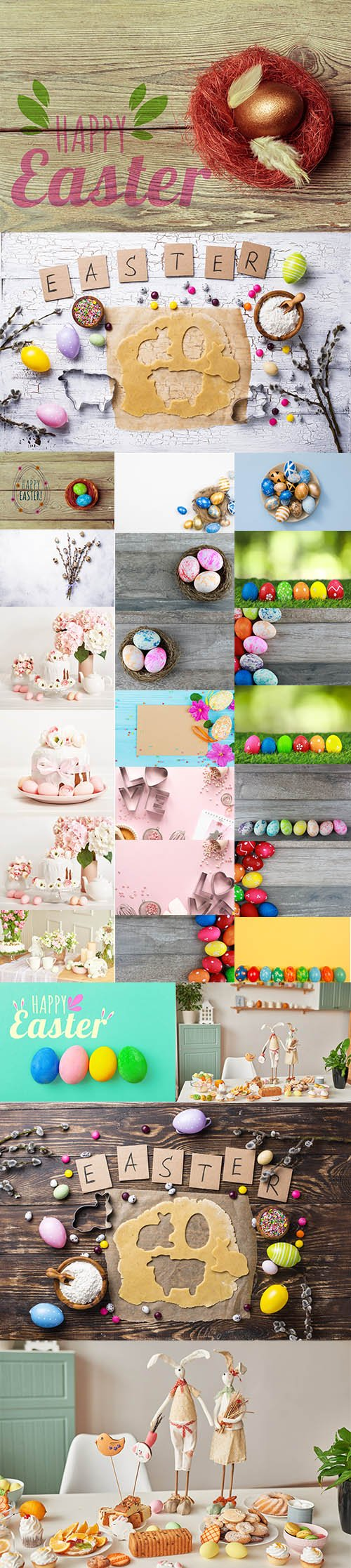 Happy Easter Holiday Decorations Bundle - Premium UHQ JPEG Stock Photo
