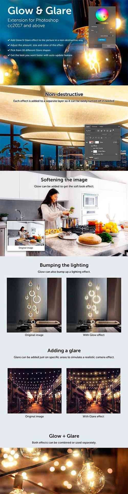 Glow & Glare - Photoshop Extension 4176868