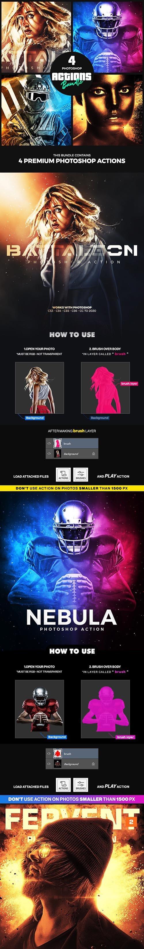 4 Photoshop Actions Bundle - Jan20 25603131