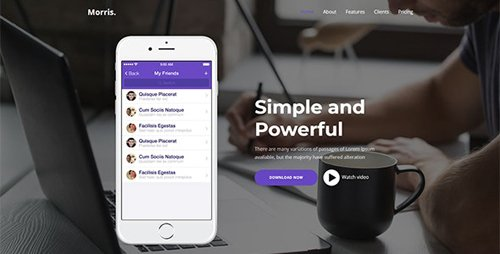 ThemeForest - Morris v1.0 - App & Product Landing Page - 25787189