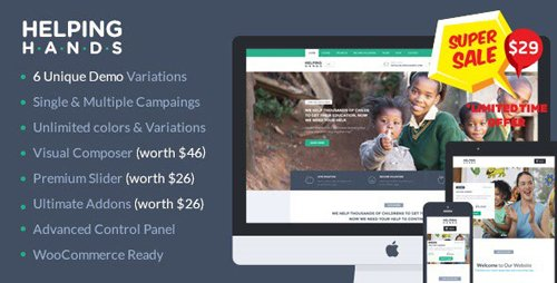 ThemeForest - Charity WordPress Theme - HelpingHands v2.7.3 - 12832860
