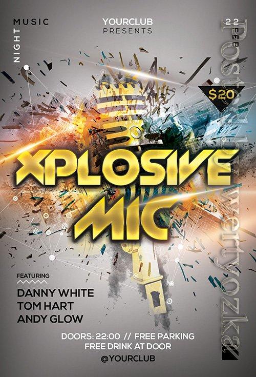 Xplosive Mic - Premium flyer psd template
