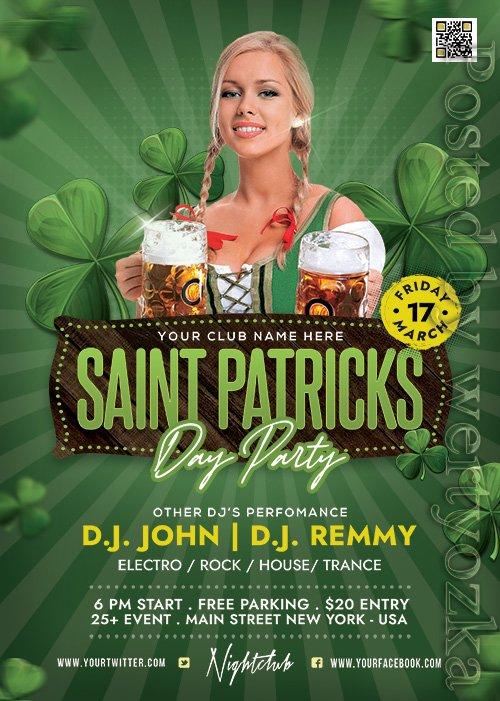 Saint Patricks Day Celebration - Premium flyer psd template