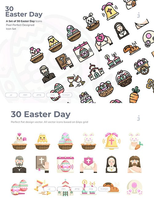 30 Easter Icons