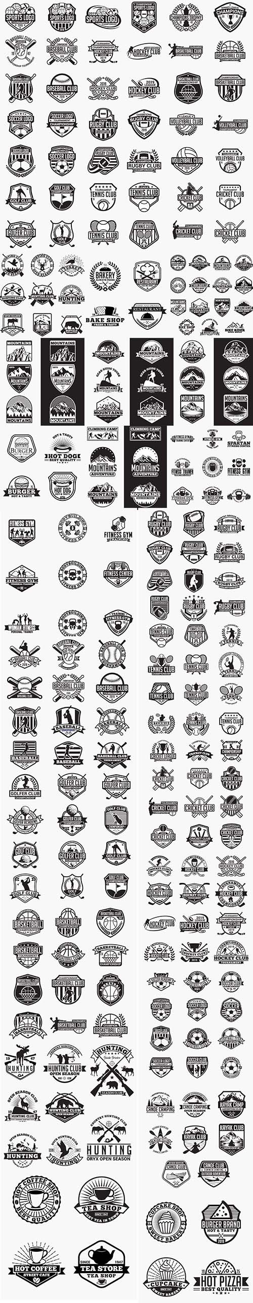 Food, Sport and Travel Badges