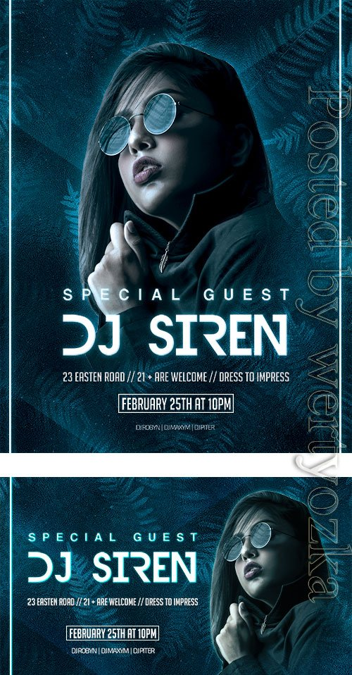 Special Guest - Premium flyer psd template