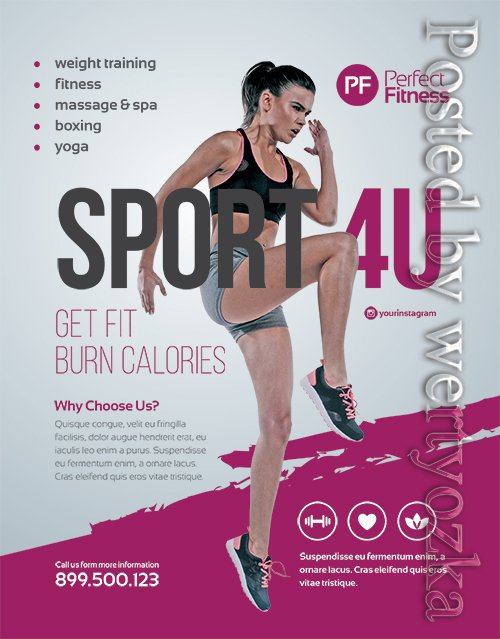 Fitness flyer - Premium flyer psd template