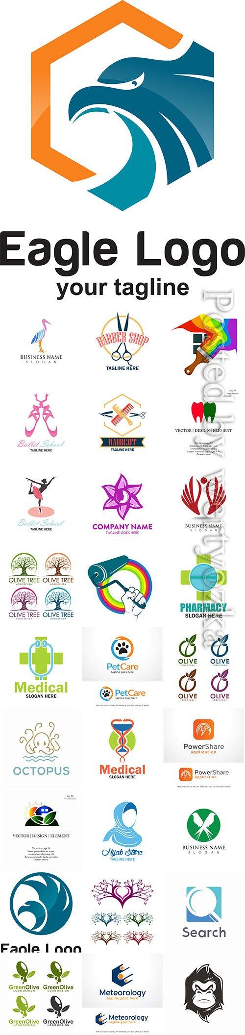 Logos set in vector