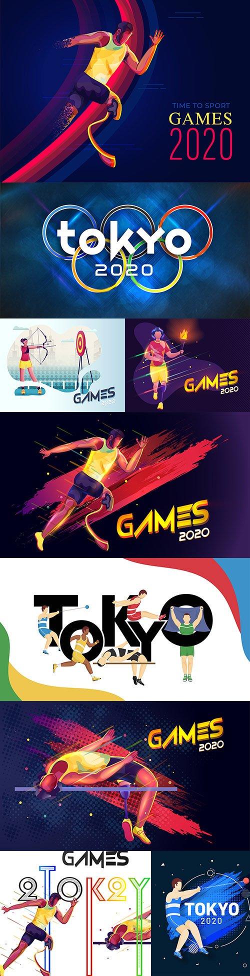 Tokyo 2020 Olympic Games symbol sports design