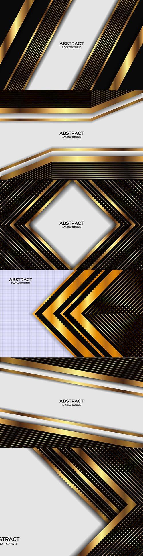 Luxury line design gold black background