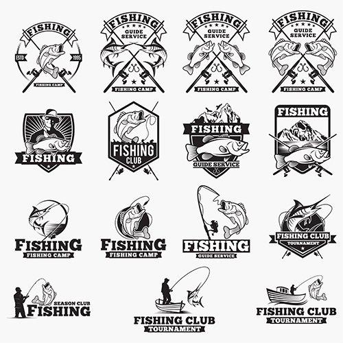 Fishing Logos Badges