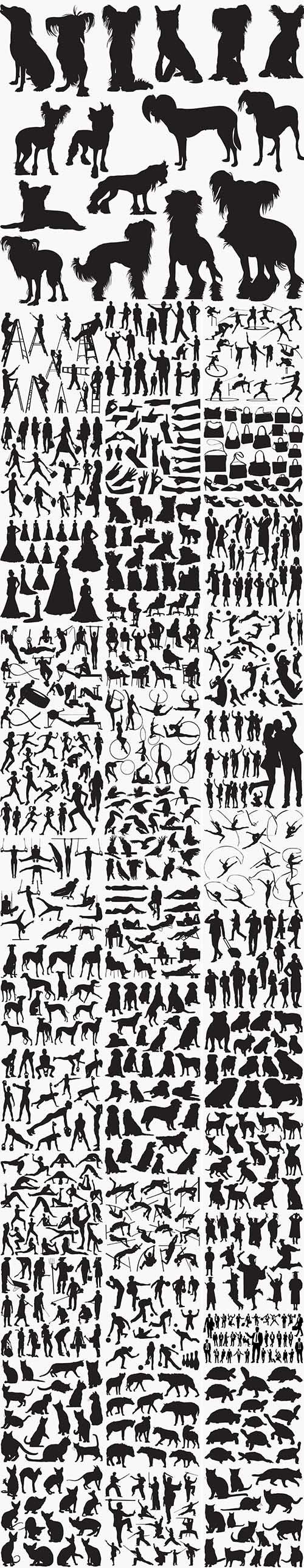 39 Set in 1 Bundle -  Black Silhouettes