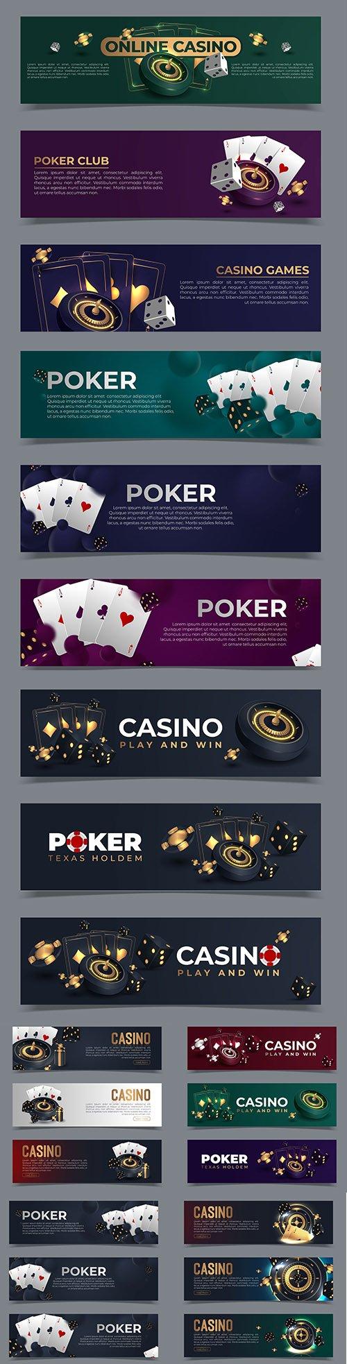 Casino Vector Banners