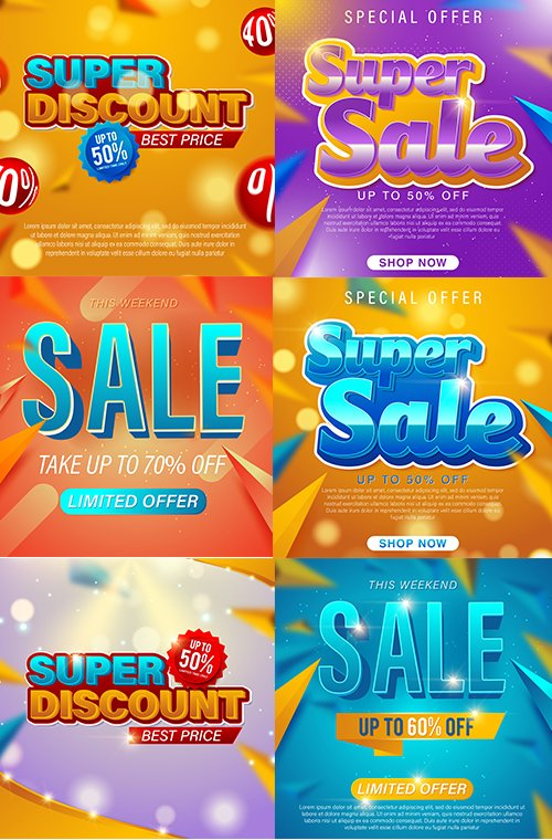 Sale Banner Illustrations