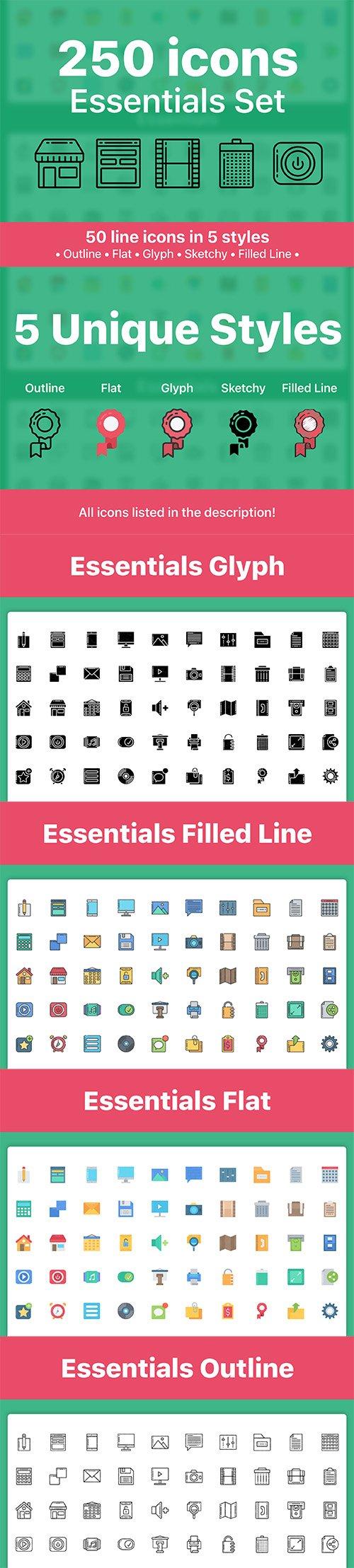 250 Essentials Icons!