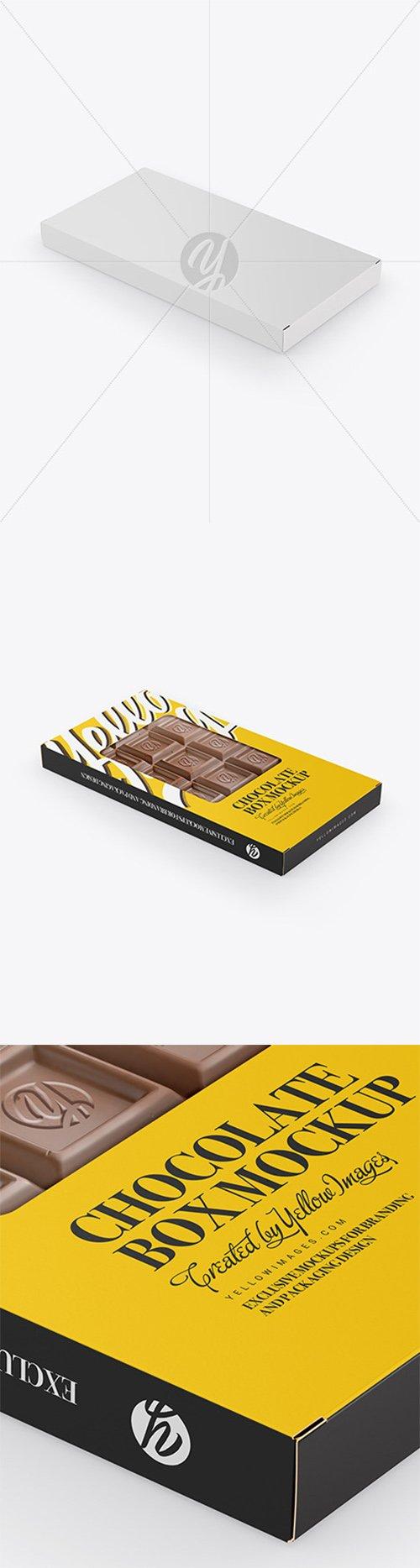 Glossy Chocolate Box W/ Window Mockup - Half Side View 55505 TIF