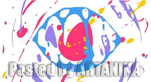 Liquid Splash Cartoon Logo 23625575