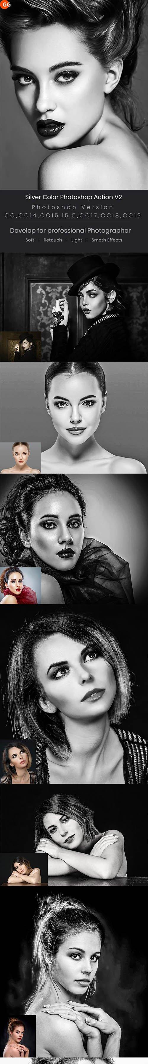 Silver Color Photoshop Action V2 24884124