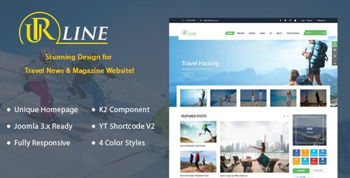 ThemeForest - Urline v3.9.6 - Responsive Travel News Joomla Template - 18175595