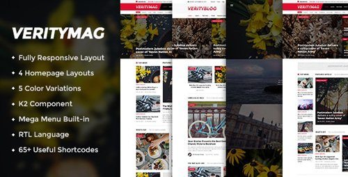 ThemeForest - VerityMag v3.9.6 - Creative News/Magazine Joomla Template - 14403605