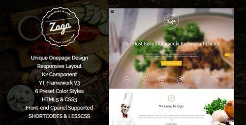 ThemeForest - Zaga v3.9.6 - Responsive Onepage Restaurant Template - 9123059