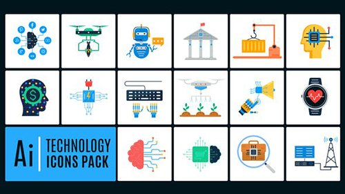 16 Technology Icons Pack 25781076