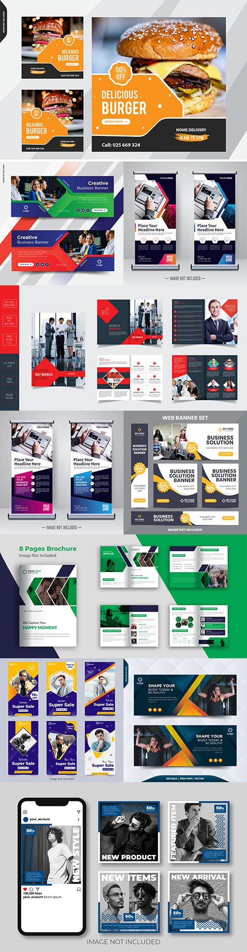 Business creative banner, brochures design template