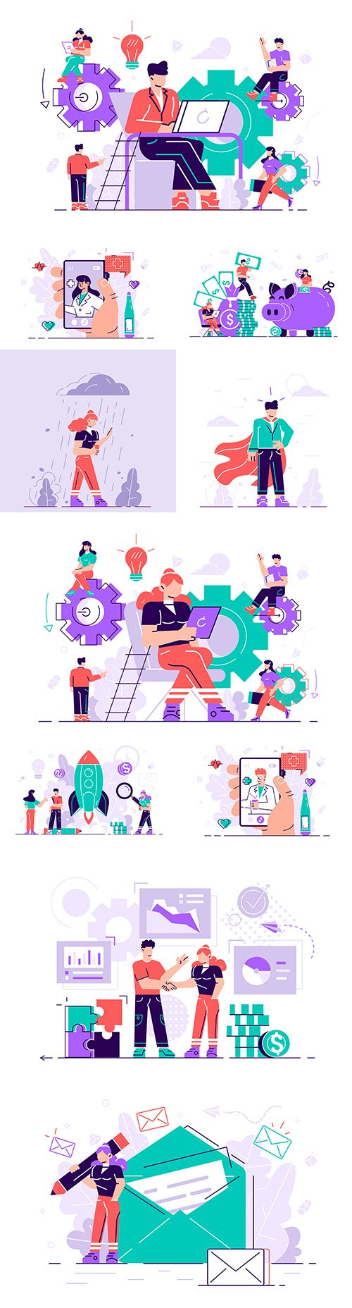 People business concept flat design illustration