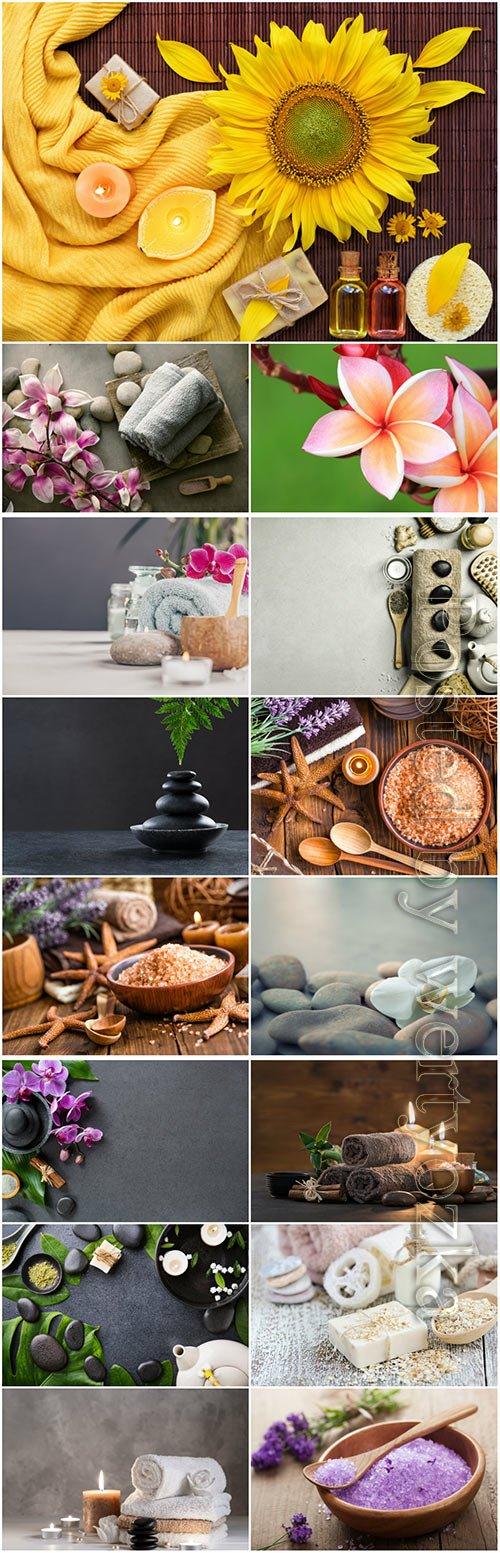 Spa backgrounds beautiful stock photo