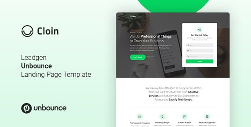 ThemeForest - Cloin v1.0 - Business Unbounce Landing Page Template - 23563082