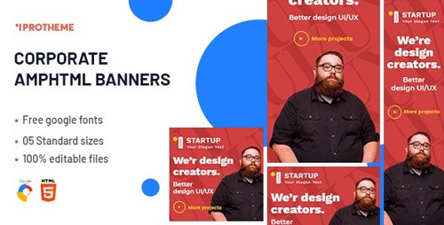 CodeCanyon - Corporate AMPHTML Banners Ads Template v1.0 - 25823718