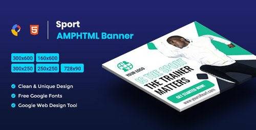 CodeCanyon - Sport AMPHTML Banners Ads Template v1.0 - 25875064