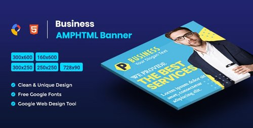 CodeCanyon - Business AMPHTML Banners Ads Template V04 v1.0 - 25894943