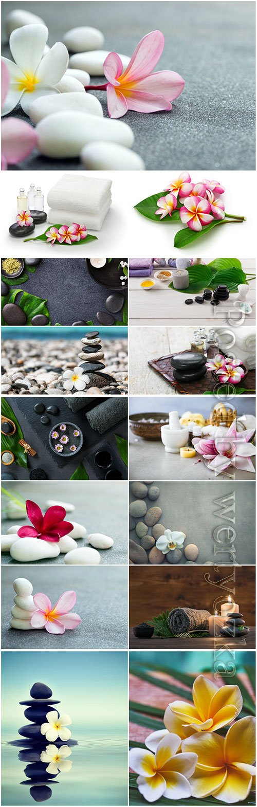 Spa backgrounds, compositions beautiful stock photo