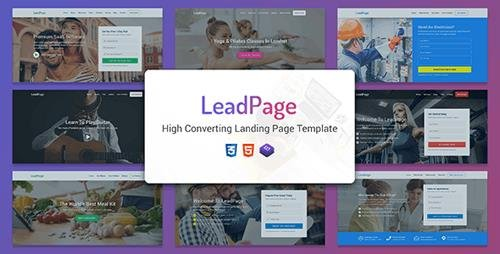 ThemeForest - LeadPage v1.0 - Multipurpose Marketing HTML Landing Page Template - 25787059