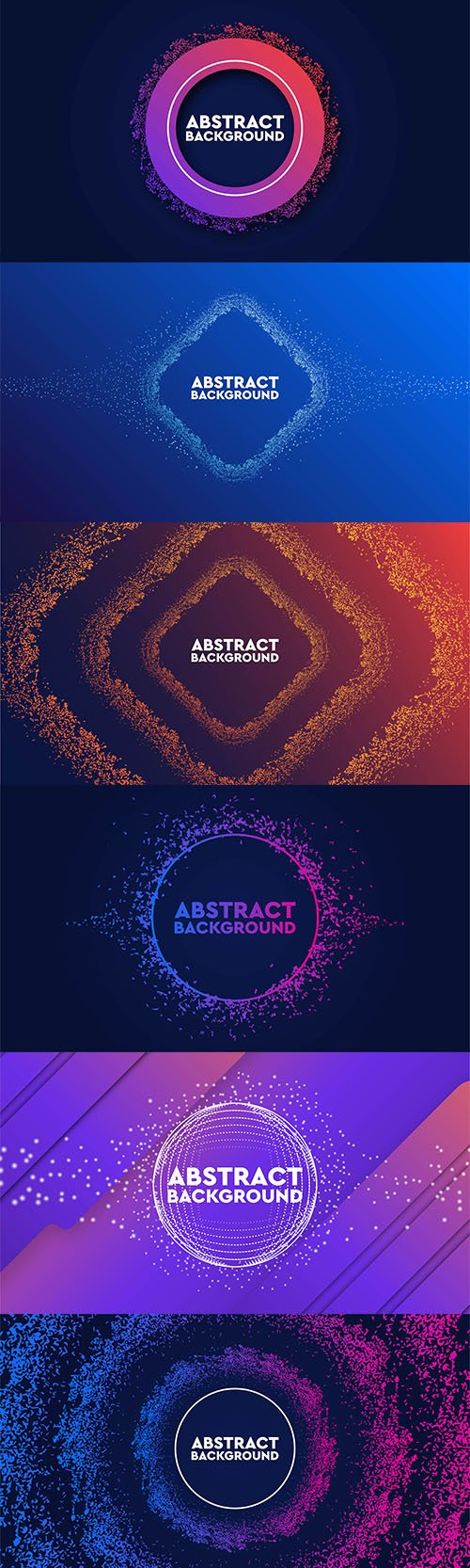 Dynamic Abstract Flow Particles Backgrounds