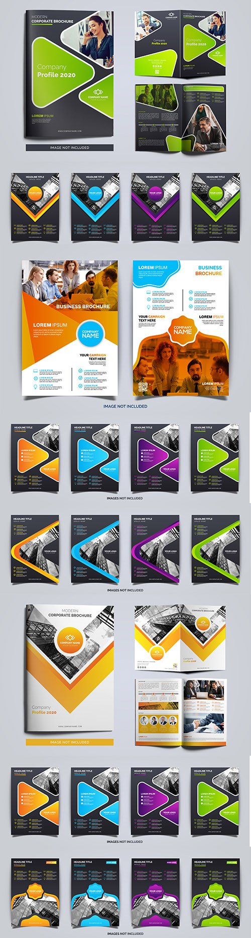 Elegant business brochure and company flyer template