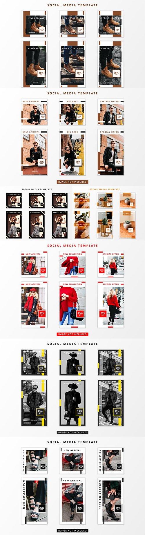 Social media posts mega sale templates design 3