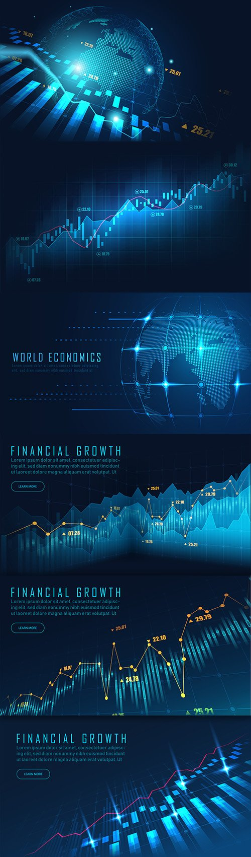 Financial market and trading schedule concept banner