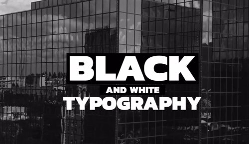 Black And White Typography 264669