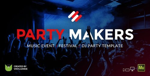 ThemeForest - Party Makers v1.0 - Music Event / Festival / DJ Responsive Muse Template - 20979493