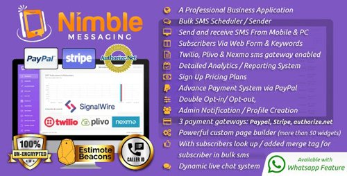 CodeCanyon - Nimble Messaging v2.5.1 - Professional SMS Marketing Application For Business - 18599385 - NULLED