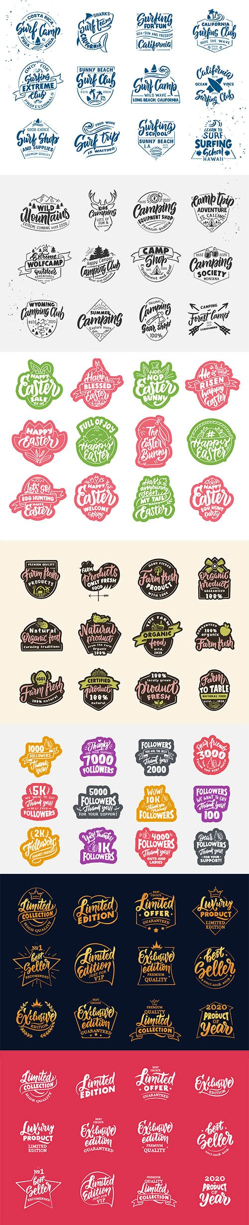 Vintage Limited Edition Product Badges