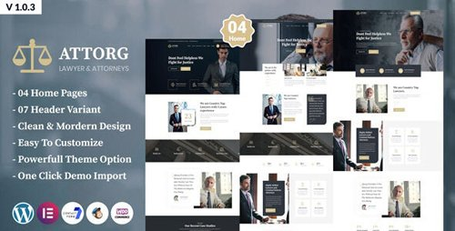 ThemeForest - Attorg v1.0.3 - Attorney & Lawyer WordPress Theme - 25354470