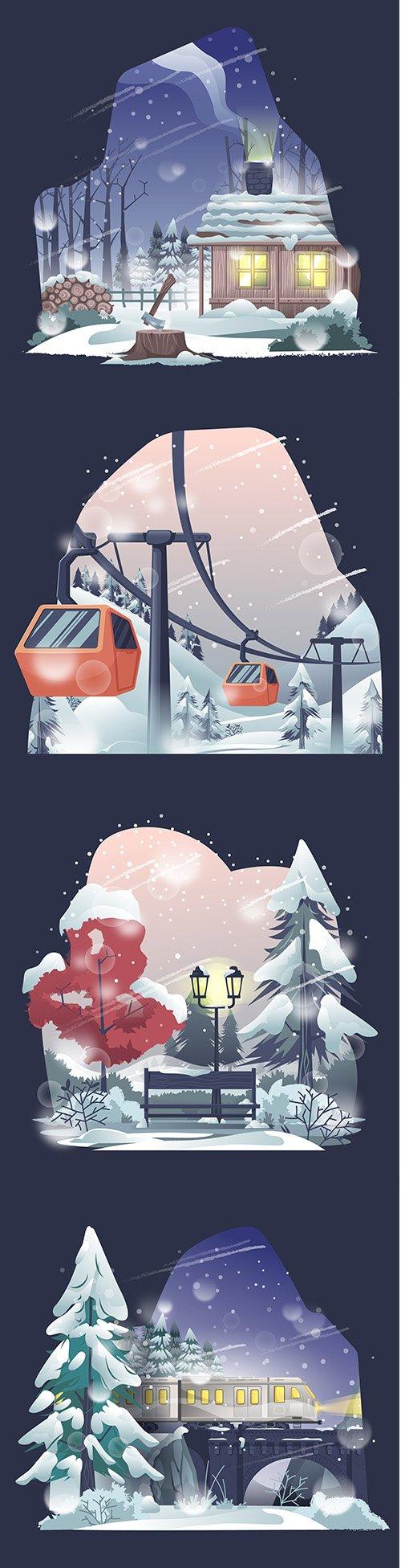 Winter Beautiful Illustration